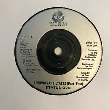 "Status Quo - ""Anniversary Waltz (Part Two)""  7"" (1990) / ""Dirty Water"" /  VIN2"