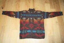 Ralph Lauren Hand Knit Wool Sweater Aztec Southwestern Women's Petite/Medium