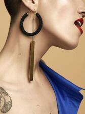 AUTHENTICBrand-New CELINE Phoebe Philo S/S 2016 Large Beaded Hoop Earrings Black