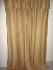 CROSCILL CHEVRON CHENILLE BUTTON GOLD (PAIR)  CURTAINS PANELS  RAYON BLEND 43X84