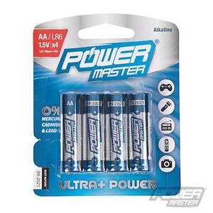 4 Pack AA Premium Extra Long Life Alkaline Battery Leak-Proof High Performance