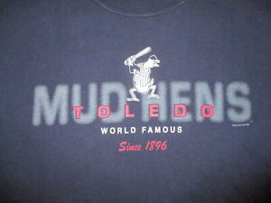 World Famous TOLEDO MUD HENS T SHIRT Minor League Baseball Team Detroit Tigers M