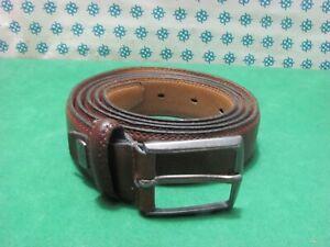 Vintage -  anni 90 Cintura Uomo vera pelle , Cm 130x3  fibia compresa - SOPRANI