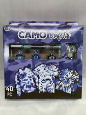 Tulip Tie Dye Shirt Kit 40pc Blue Black Camo Fashion 45543