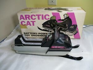 Vintage Normatt Arctic Cat Panther Battery Powered Toy Snowmobile w/ Box