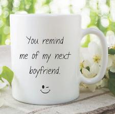 Novelty Funny Mug Joke Boyfriend Birthday Gift Christmas Present Cup WSDMUG888
