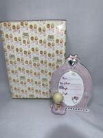 NEW IN BOX Precious Moments baby girl Frame pink With Locket