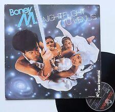 """Vinyle 33T Boney M   """"Nightflight to Venus"""" + carte postales d'origines"""