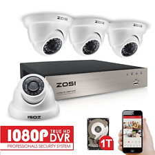 ZOSI 1080P 4CH DVR Security CCTV System Outdoor IR Cut HDMI 3000TVL Camera 1T HD
