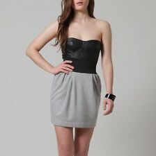 $445 Elizabeth and James 2 XS Sporty Sexy Genuine Leather Corset Fall Mini Dress