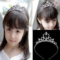 Rhinestone Kid Tiara Hair Band Girl Bridal Wedding Princess Prom Crown Headband