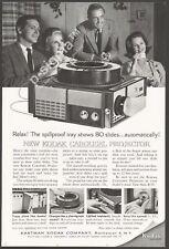 KODAK Carousel Projector 1962 Vintage Print Ad