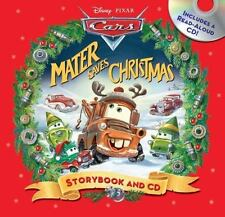 NEW Disney Pixar Cars Mater Saves Christmas Storybook & Audio CD Set Hardcover