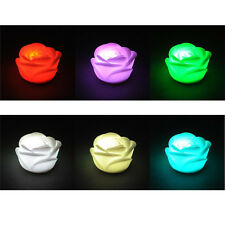 7 Colors Changing Rose Flower LED Light Night Candle Light Lamp Romantic ST