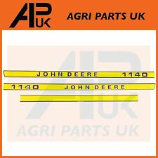 John Deere 1140 Tractor Hood Bonnet Decal Sticker Set Kit Emblem Transfers