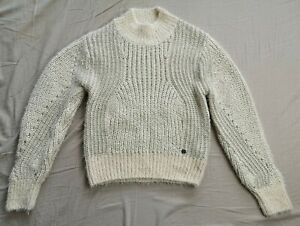 Pepe Jeans Women's Candle Marissa Open Work Jumper Size S Small Used Condition