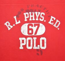 $64.50 RALPH LAUREN POLO R.L PHYS. ED. 67 L/S BIG & TALL T-SHIRT TEE RED 3XLT