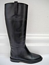 NEW MICHAEL KORS COLLECTION $795 black leather knee high riding style boots 6.5