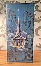 Vintage Antique Christian Christmas Card Reflections Church Bethlehem Envelope