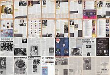DEEP PURPLE : CUTTINGS COLLECTION -interviews adverts-