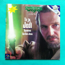 ►►rare Polish storybook Star Wars Episode 1 I am a Jedi Liam Neeson POLAND