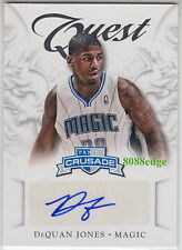 2012-13 PANINI CRUSADE AUTO: DeQUAN JONES #49 AUTOGRAPH ORLANDO MAGIC