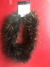 Celebrate It Black boa with gold tinsel 6 foot New Year's