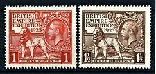 GREAT BRITAIN 1925 Sc#203-204, BRITISH EMPIRE EXHIBITION, MNH - FREE SHIPPING