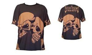 SkullSkins Evil Twins Short Sleeved Brown - Skull Design Rider Tee Men's Medium