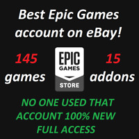 Best Epic Games Account With 145 Games Region Free