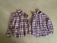 2 Men's Long-sleeved Shirts-Medium- Plaid-Chaps And Merona