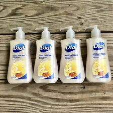 Dial VANILLA HONEY moisturizing soap 7.5 FL OZ.**lot of 4 bottles