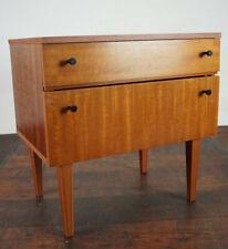 60er Vintage Mini Sideboard Nachtkommode Nussbaum Nachttisch Mid-Century 3