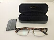 Versace Prescription Eye Glasses w/ Coach Black Clam Shell Hard Case & Cloth
