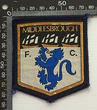 VINTAGE MIDDLESBROUGH FC FOOTBALL CLUB UK EMBROIDERED PATCH CLOTH SEW-ON BADGE