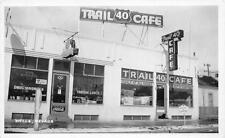 RPPC TRAIL 40 CAFE Wells, NV Roadside Nevada Vintage Postcard ca 1940s