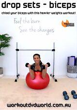 Strength Training EXERCISE DVD - Barlates Body Blitz DROP SETS BICEPS
