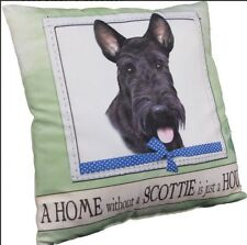 "New A Home Without a Scottie is Just a House Dog Throw Pillow 16"" x 16"""