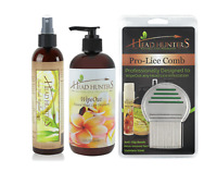 Head Hunters Naturals Specialist Kit - Includes Lice Repellant, Comb, & Wipe Out