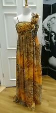 Animal print maxi dress size 10-12