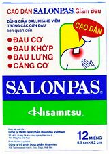 SALONPAS PAIN RELIEVING PATCH HISAMITSU 5 BOXES 60 PATCHES - DISPATCH SAME DAY