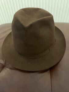 Lock & Co Hatters, Brown Fedora felt hat,