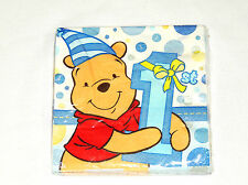 WINNIE THE POOH 1st  BIRTHDAY  BOY     16-LUNCH NAPKINS  PARTY SUPPLIES