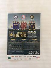 Ticket Flyer ICC Singapur 2017 FC Bayern München Chelsea FC Inter Mailand FCB