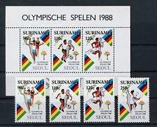 Suriname 1264/67 Block 47 postfrisch / Olympiade - Fußball ...............1/3168