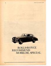 1964 ROLLS-ROYCE ~ ORIGINAL MOBIL OIL AD