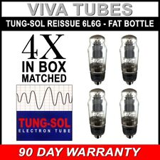 New Plate Current Matched Quad (4) Tung-Sol Reissue 6L6G Fat Bottle Vacuum Tubes