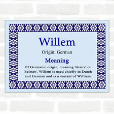 Willem Name Meaning Blue Certificate