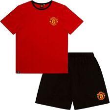 Mens Man Utd Short Pyjamas  Manchester United T-Shirt Set Football Pjs Gift