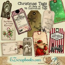 CHRISTMAS TAG SET - 10 Pages of Tags and 76 Individual Tags